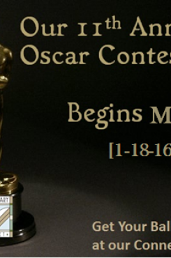 Oscar Contest Begins Monday 1-18-16
