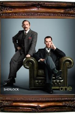 Cumberbatch and Freeman as Victorian Holmes & Watson