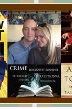 Tasha Alexander & Andrew Grant with Book Covers