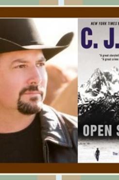 C J Box and Open Season cover graphic