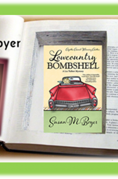 Susan Boyer with Lowcountry Bombshell graphic