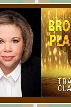 """Tracy Clark with """"broken Places"""" book cover"""