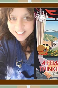 """Sulari Gentill and """"A Few Right Thinking Men"""" book cover"""