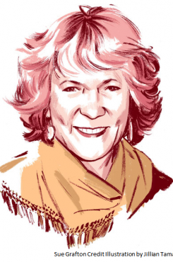 Picture of Sue Grafton from the New York Times Book Review