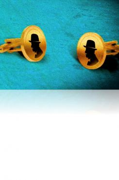 "Poirot cufflinks from ""The Monogram Murders"" cover"