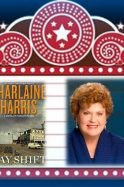 Marquee with Charlaine Harris and Midnight Texas books