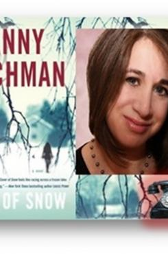 "Jenny Milchman with cover for ""Cover of Snow"""