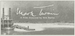 """Mark Twain"" film graphic"