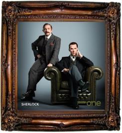 Cumberbatch and Freeman as Victorian Holmes & Watson