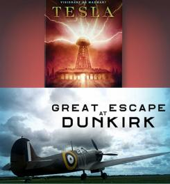 Tesla and The Great Escape at Dunkirk graphic