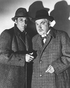 Basil Rathbone as Sherlock Holmes & Nigel Bruce as Dr. Watson