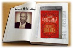 Kareem Abdul-Jabbar with Mycroft Holmes cover graphic