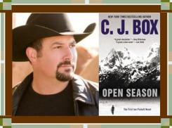 C J Box and Open Season cover graphic