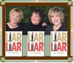 K.J. Larsen pix with Liar Liar cover