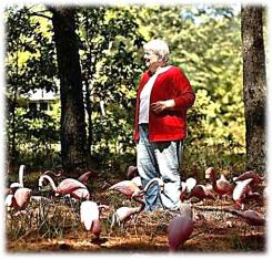"""Margaret Maron """"gifted"""" with Flamingos"""