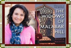 Sujata Massey with Widows of Malabar Cover