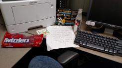 """Jane Ryalnd's """"desk"""""""