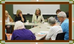 Hank Phillippi Ryan with members of Murder Among Friends and attendees