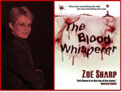Author Zoe Sharp & Blood Whisperer Cover